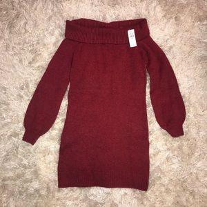 NWT American Eagle - Off-shoulder Sweater dress